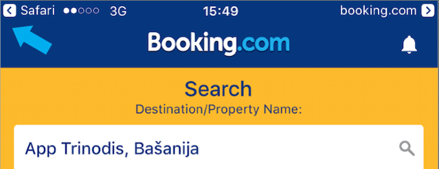 universal links example of booking.com