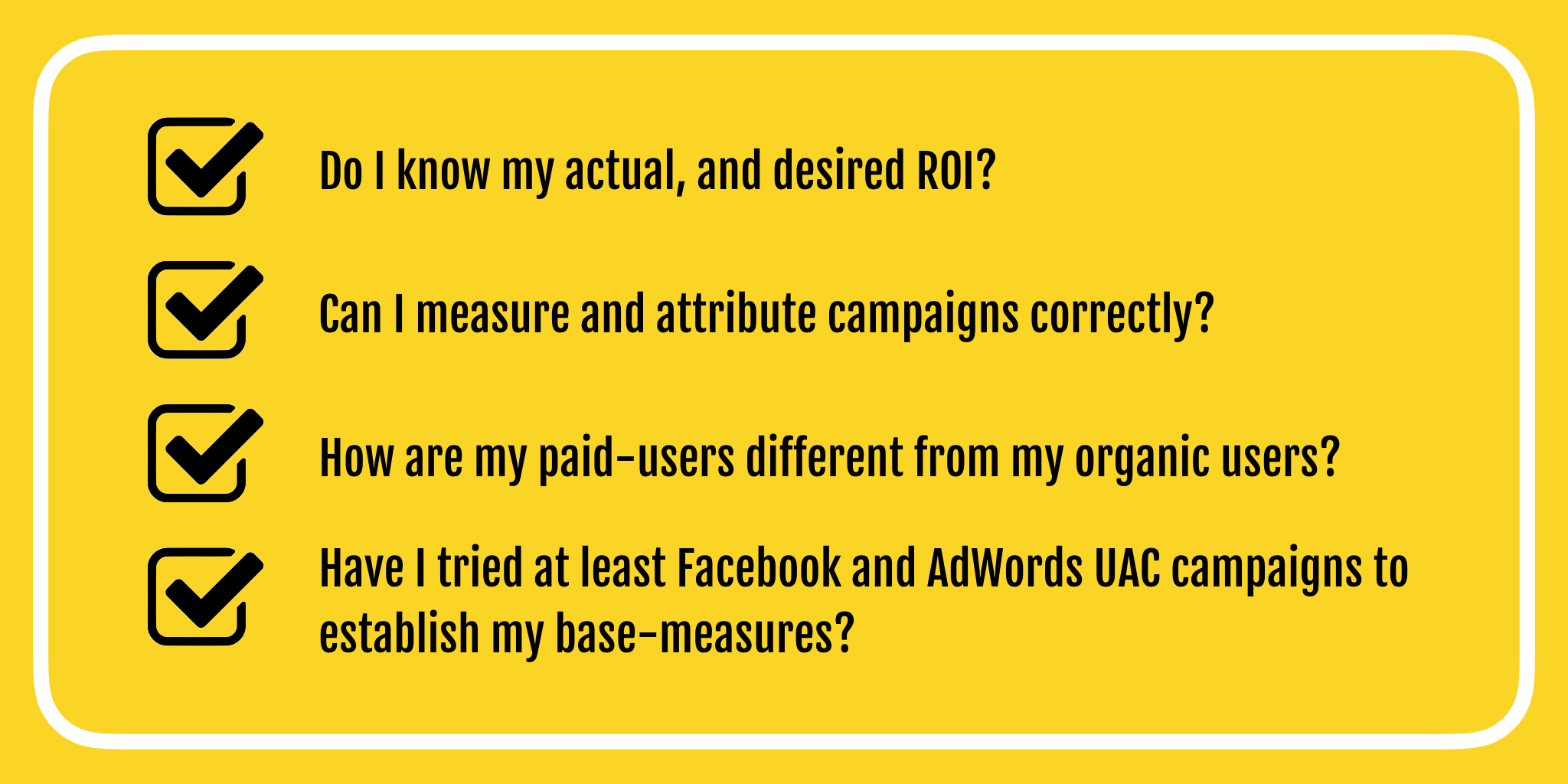 Questions to ask before scaling UA