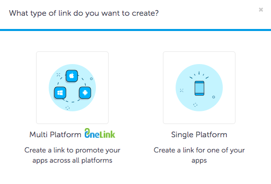OneLink deep links multi platform