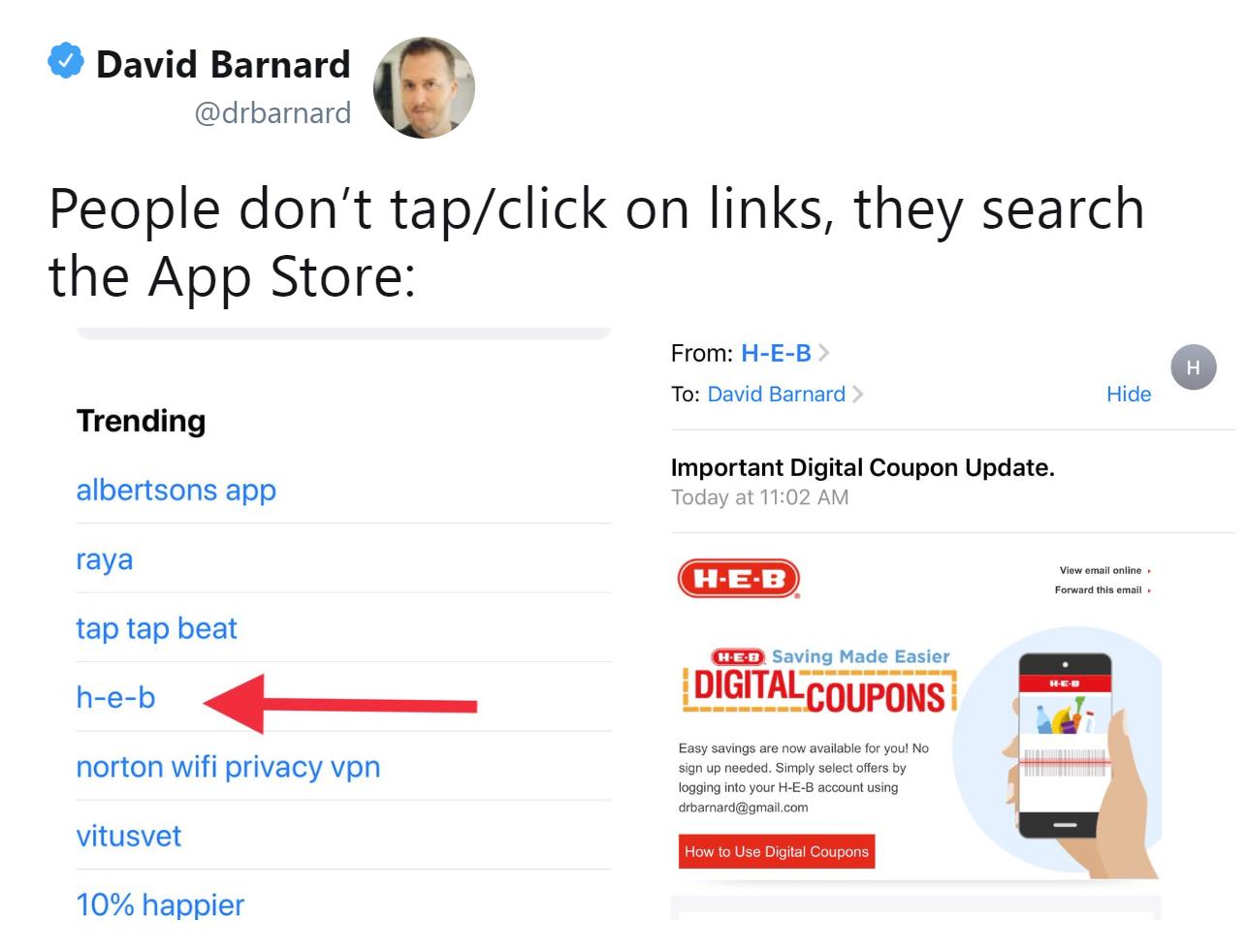 app store tweet