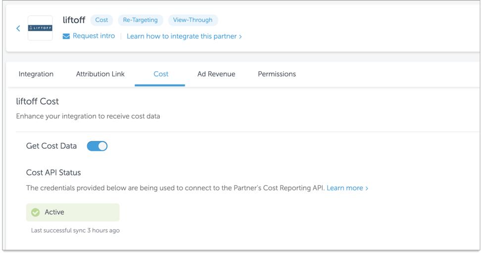 AppsFlyer's Integration Dashboard