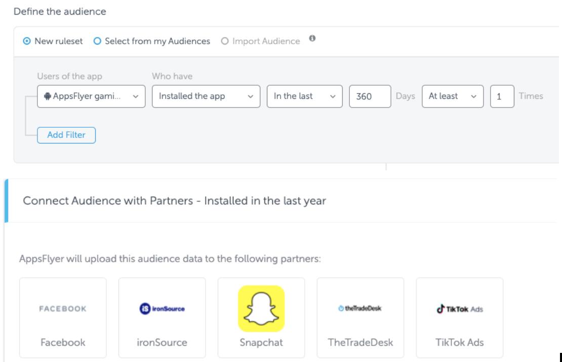AppsFlyer's audience segmentation tool