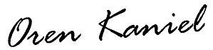 Oren Kaniel signature