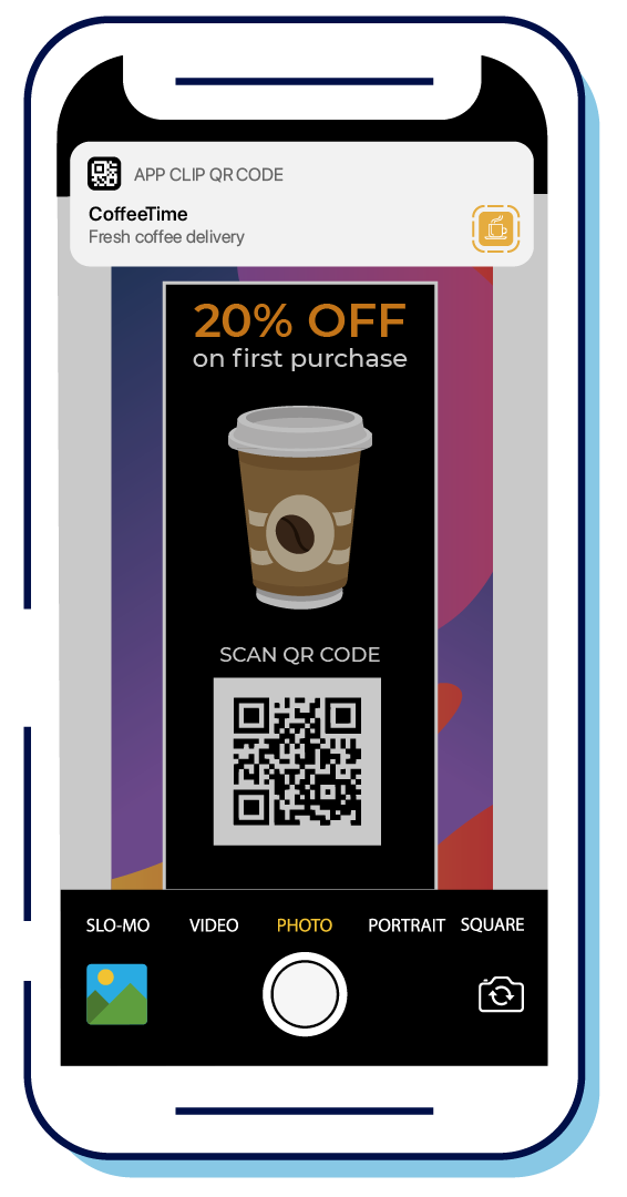 apps clips qr code coffee shop app