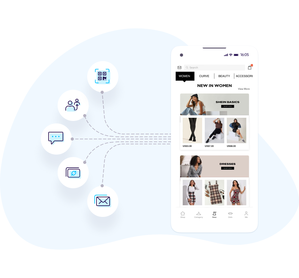 Deep linking shopping apps - AppsFlyer solutions