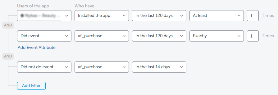 audience segmentation in the AppsFlyer dashboard