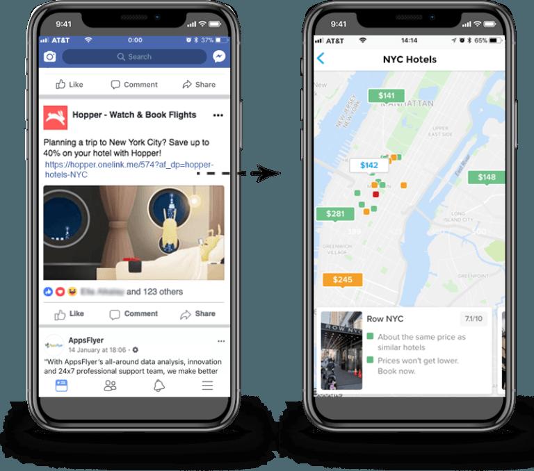 deep linking from social media to an app