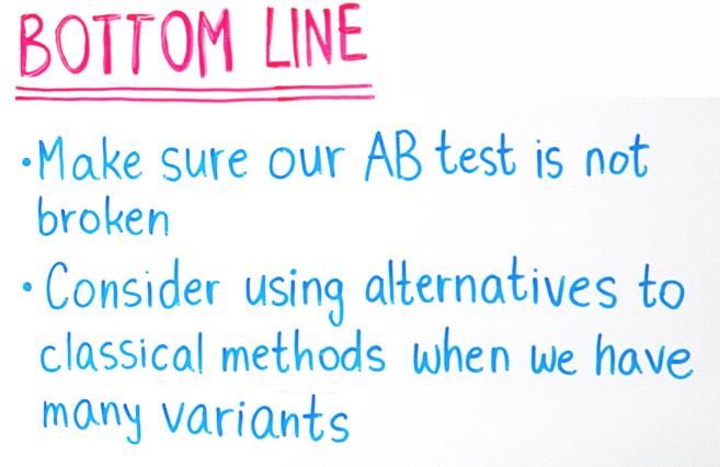 A/B testing takeaways
