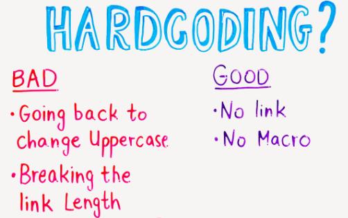 Hardcoding (whiteboard)