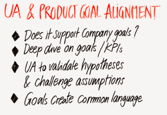 ua and product goal alignment