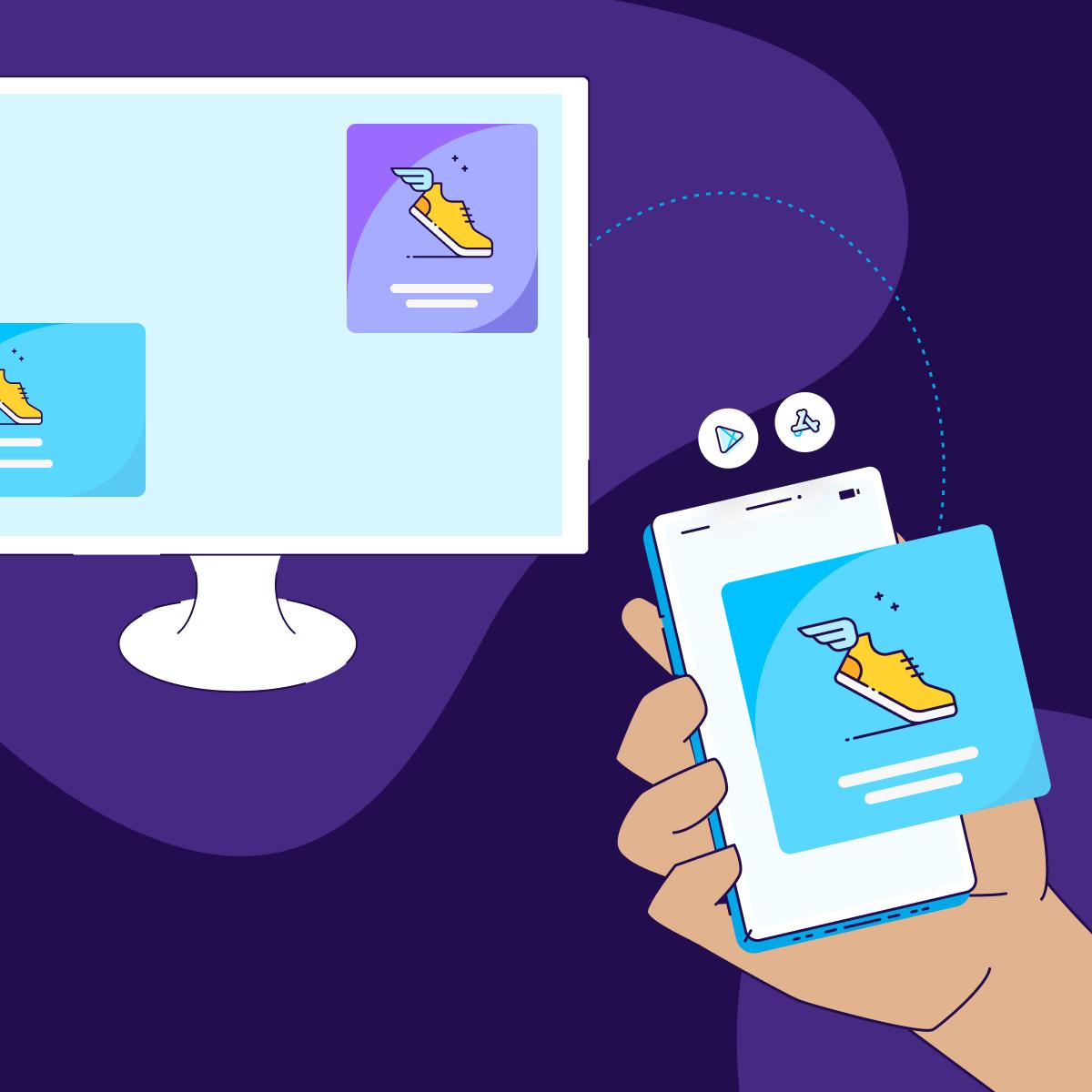 web campaign to app - square