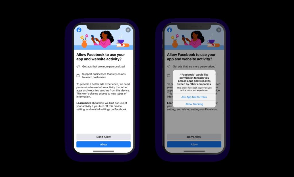 Facebook's native prompt iOS 14