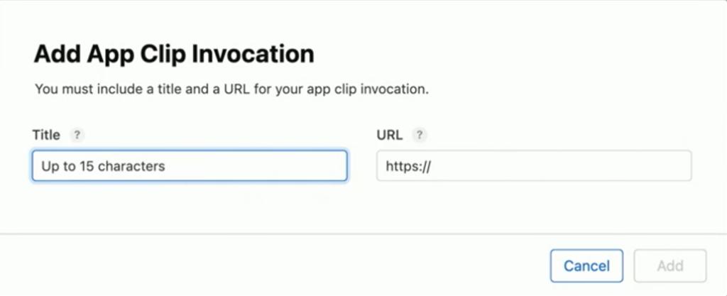 Add App Clip invocation