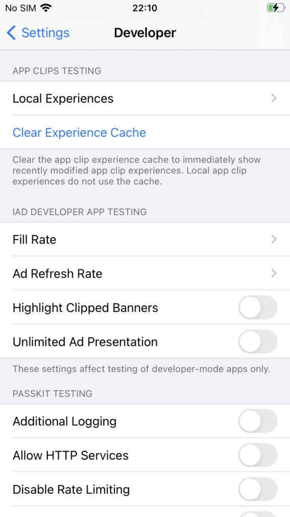 setting local experience apple app clips