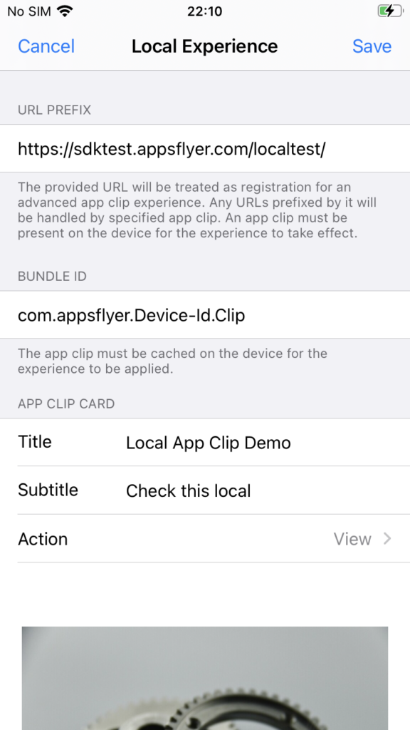 local experience apple app clips