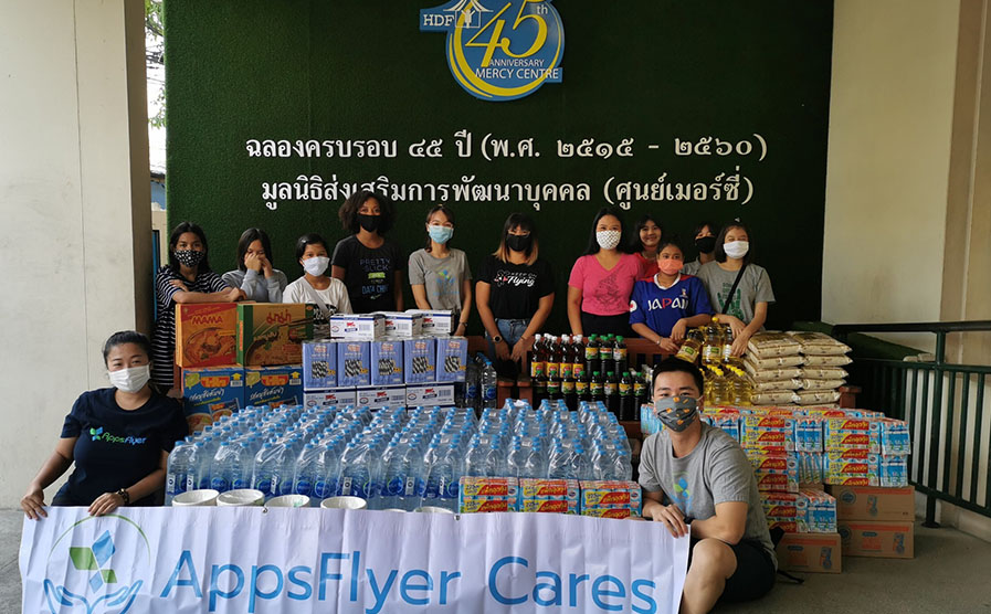 AppsFlyer COVID-19 response Bangkok at the Mercy center
