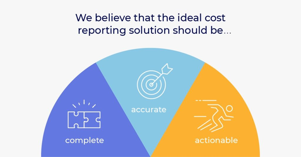 Ideal cost reporting solution